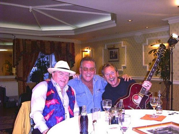 George with pal Van Morrison and another friend