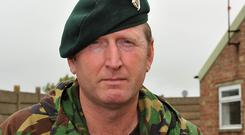War hero: UUP MLA Doug Beattie in his Army days