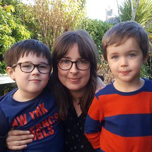 Flu fighters: Belfast mum Sorcha McKeown chose to have her sons James (5) and Thomas (3) vaccinated