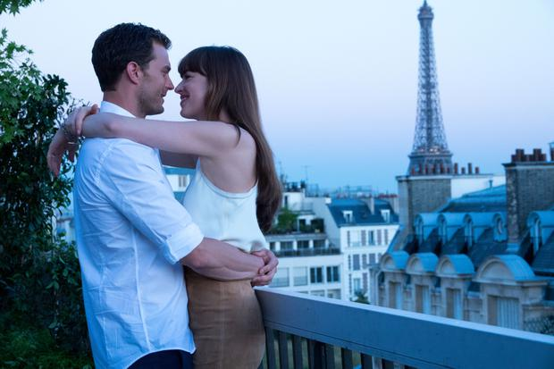 Jamie Dornan in the erotic trilogy Fifty Shades alongside Dakota Johnson