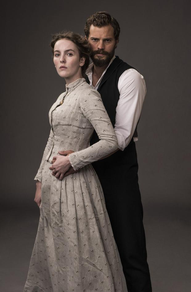 Jamie Dornan as Liam Ward in new BBC drama Death and Nightingales where he stars opposite Ann Skelly as Beth Winters