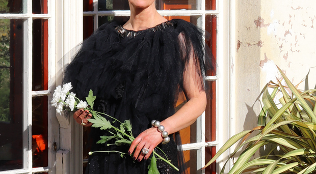 Fitting tribute: Janice wearing the dress in honour of Cecil the Lion