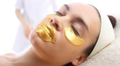 Shining look: make-up products containing gold can help skin