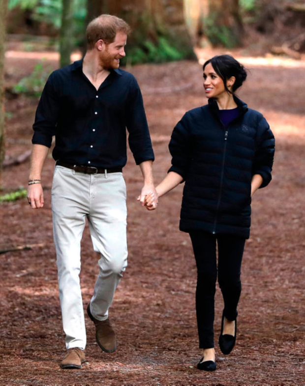 Royal newcomer: Harry with Meghan in New Zealand
