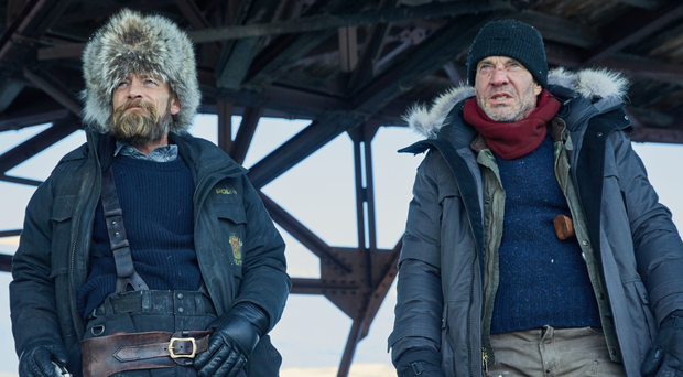 Arctic role: Richard Dormer as Dan Anderssen and Dennis Quaid as Michael Lennox in Fortitude