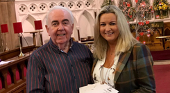 Charity carols: Jo-Anne Dobson with Gordon Speers at St Mark's Church in Portadown ahead of the annual carol service
