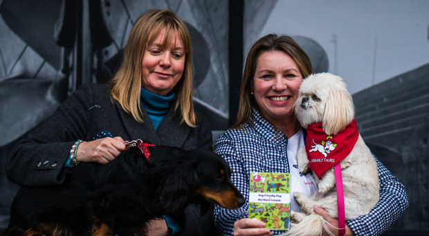 Pet pals: Heidi and Jo-Anne with their dogs