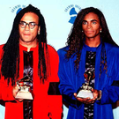 Sounds funny: Rob Pilatus and Fabrice Morvan, known as Milli Vanilli