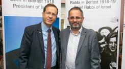Steven Jaffe with Isaac Herzog, former leader of the opposition in the Israeli Parliament