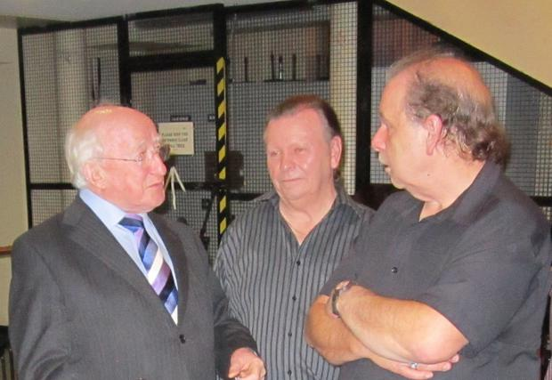 The brothers with Michael D Higgins
