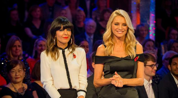 Looking great: Tess Daly with Claudia Winkleman on Strictly