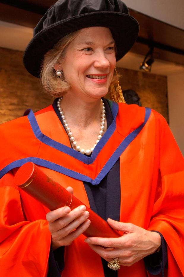 The Duchess receiving an honorary doctorate at University of Ulster