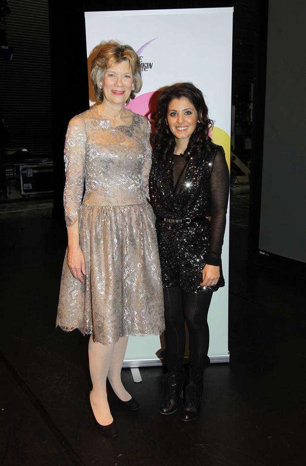 The Duchess with singer Katie Melua at a Pushkin Trust concert in Belfast