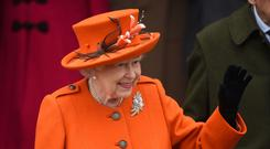 Match made in heaven: the Queen greets well-wishers at Sandringham last Christmas