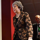 Lone ranger: Prime Minister Theresa May in Brussels