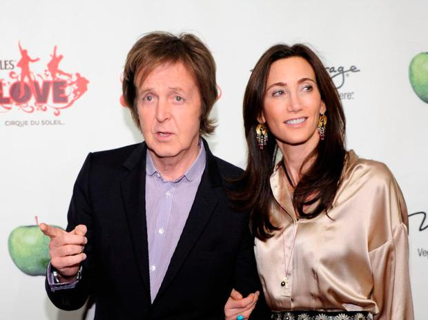 Close family: Paul McCartney with wife Nancy Shevell