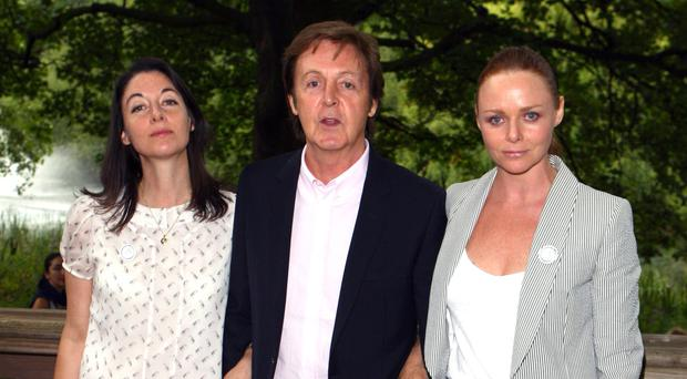 Close family: Paul McCartney with daughters Mary and Stella