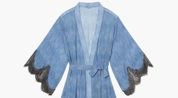Naughty but nice: Chiffon Robe, £68, Savage X Fenty