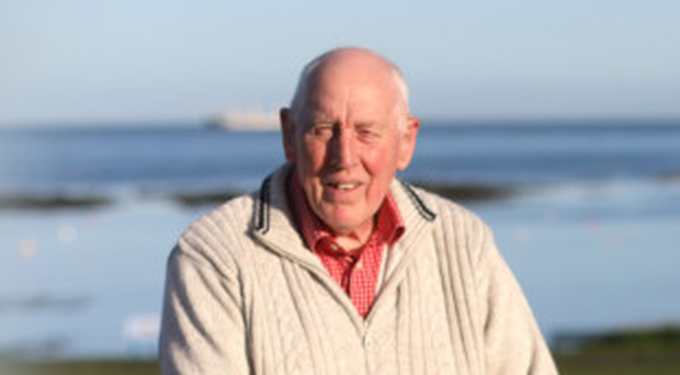 Retired Firefighter Paul Burns who has returned to Groomsport having spent 55 years working in England
