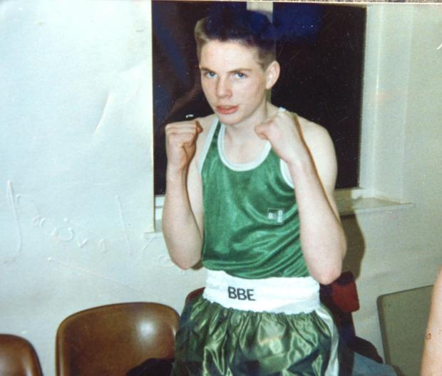 Stephen as a young boxer
