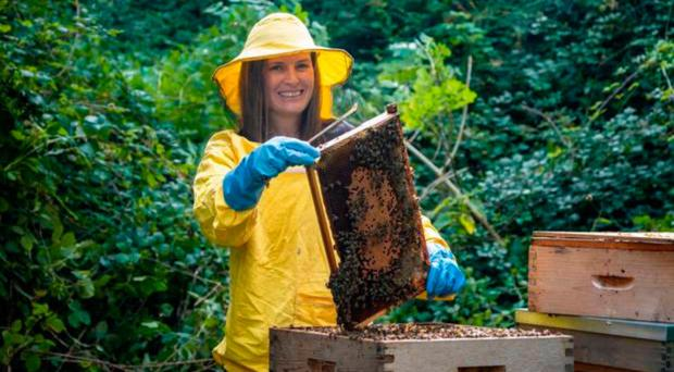 Big buzz: DCU PhD student Saorla Kavanagh, who led the research that found Irish heather honey has health benefits which are comparable with Manuka honey