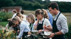 Culinary test: students on the River Cottage cookery course