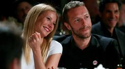 Amicable divorce: Gwyneth Paltrow with her ex, Coldplay frontman Chris Martin