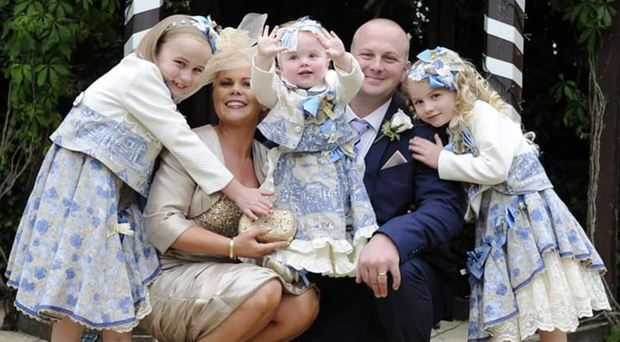 Girls' world: Ruth Park with husband Gareth and their three daughters Katherine, Emily and Jessica