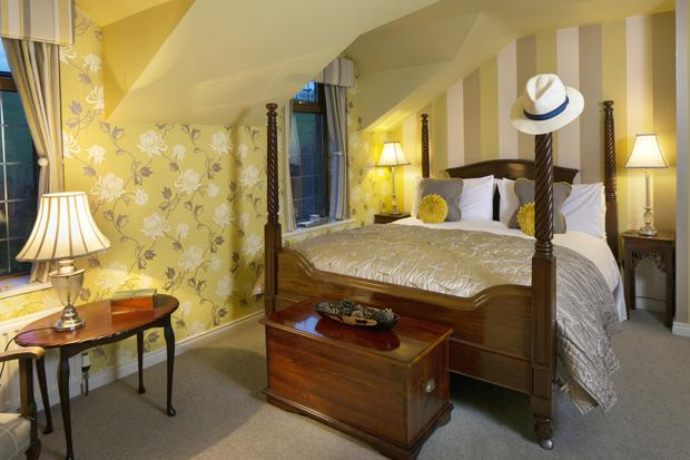 Elegant slumbers: all of the bedrooms have been decorated luxuriously