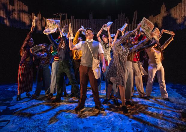The British Youth Music Theatre cast perform Paperboy at the Lyric Theatre last summer