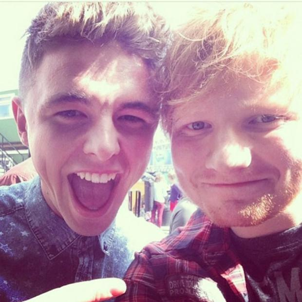With Ed Sheeran