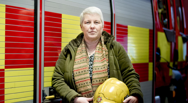 Retired firefighter Heather Smart at Knock Fire Station