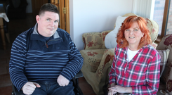 Special bond: Yvonne with brother Stephen at home in Toomebridge