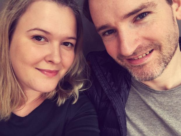 Michael McHale with fiance Laura Dixon, a violinist with the London Symphony Orchestra