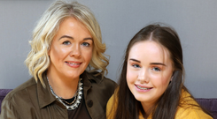 Lucky escape: Roisin O'Donnell with daughter Aoife