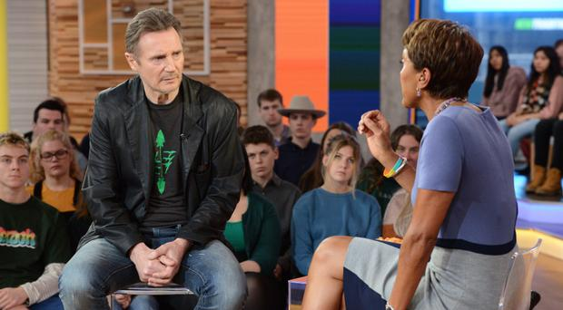 Media storm: Liam Neeson explains his comments while talking to Robin Roberts on Good Morning America
