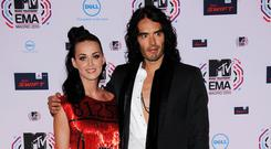 Silent treatment: Russell Brand told Katy Perry by text he wanted a divorce
