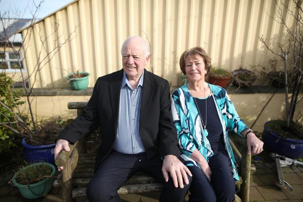 Charlie and Maureen McKnown from Downpatrick, Maureen has written a book about a nun who ran away from a convent in Australia in the 1920's, the book is now going to be made into a movie. Pic by Peter Morrison