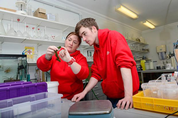 Monica McCard, with her son Nathan who is studying Applied Science