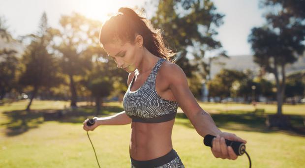 Roped in: skipping is perfect for a quick workout in the park