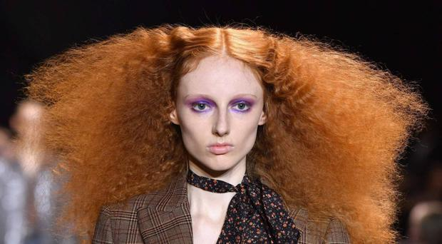 Hair raising: a model at the Michael Kors Collection Fall 2019 show