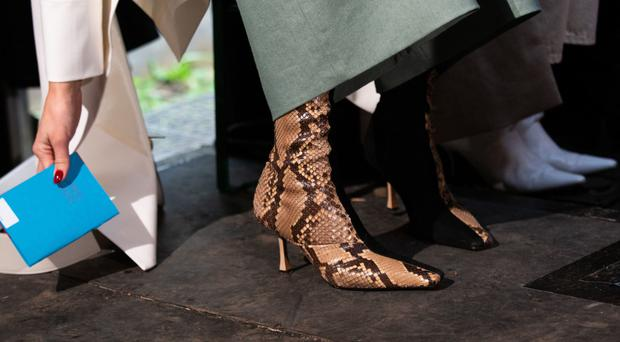 We love these designer duo boots because they also tick off another major trend of SS19, snakeskin, and you can get a lookalike pair for a lot less