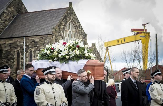 The funeral of Ian Ogle