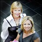Close bond: Emma Hannigan and Cathy Kelly at the launch of Europa Donna Ireland's breast cancer leaflet in 2009