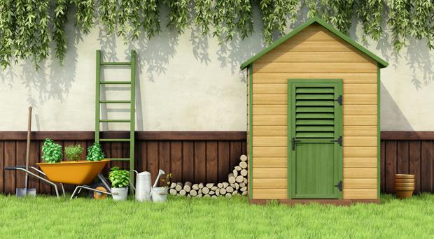 Varied choice: a garden shed can be transformed into many things