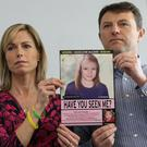 Kate And Gerry McCann at a news conference to mark the fifth anniversary of Madeleine's disappearance