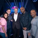 Loads of fun: Paddy McGuinness with contestants Nadine, Gerard, Mehrage and Abdul on BBC One's new Saturday evening game show Catchpoint