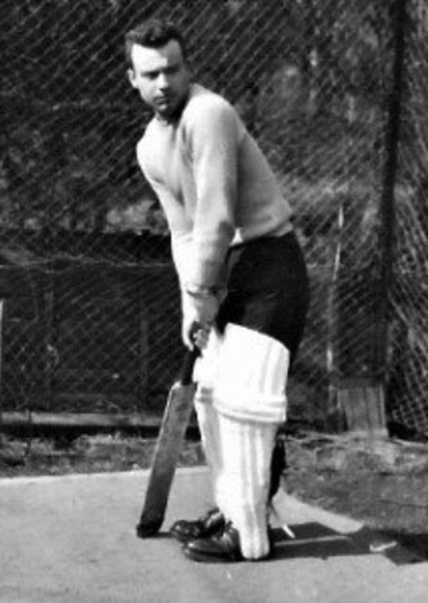 Tim's father Raymond during his cricket loving days