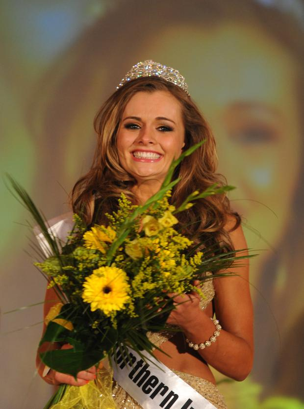 Beauty queen: Tiffany winning Miss Northern Ireland in 2012