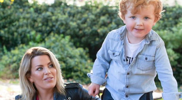 Strong bond: Zoe Desmond with son Billy